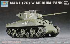 Trumpeter US M4A1(76)W Sherman Tank Plastic Model Military Vehicle Kit 1/72 Scale #07222