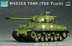 Trumpeter M4A3E8 (Easy Eight) Tank w/T66 Tracks Plastic Model Military Vehicle Kit 1/72 Scale #07225