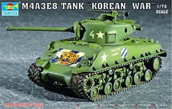 Trumpeter M4A3E8 Tank with T80 Tracks Plastic Model Military Vehicle Kit 1/72 Scale #07229