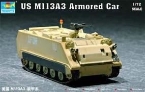 Trumpeter US M113A3 Armored Personnel Carrier Plastic Model Military Vehicle Kit 1/72 Scale #07240
