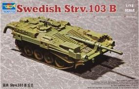 Trumpeter Swedish Strv 103B Main Battle Tank Plastic Model Military Vehicle Kit 1/72 Scale #07248