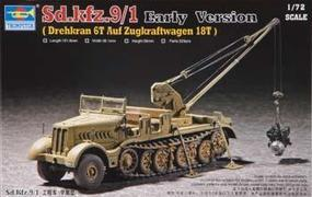Trumpeter WWII German FAMO SdKfz 9/1 Halftrack Plastic Model Kit 1/72 Scale #07253