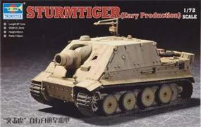 Trumpeter Sturmtiger Assault Mortar Early Version Plastic Model Military Vehicle 1/72 Scale #07274