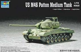 Trumpeter US M46 Patton Medium Tank Plastic Model Military Vehicle Kit 1/72 Scale #07288