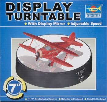 Trumpeter Battery Op Round Mirrored Turntable -- Plastic Model Display Stand -- #09835