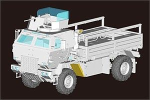Trumpeter M1078 LMTV Cargo Truck with Armored Cab Plastic Model Military Vehicle 1/35 Scale #1009