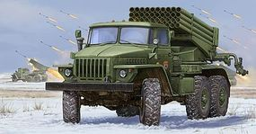 Trumpeter Russian BM-21 Grad MRL (Early Version) Plastic Model Military Vehicle Kit 1/35 Scale #1013