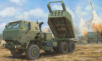 Trumpeter M142 High Mobility Artillery Rocket System Plastic Model Military Vehicle Kit 1/35 #1041