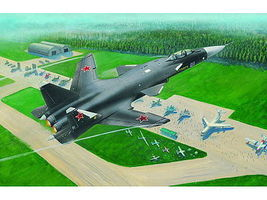 Sukhoi SU47 Berkut Soviet Fighter Plastic Model Airplane Kit 1/144 Scale #1324