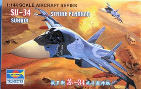 Trumpeter Russian SU-34 Fighter Plastic Model Airplane Kit 1/144 Scale #1329