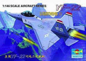 Trumpeter YF-22 Plastic Model Airplane Kit 1/144 Scale #1331