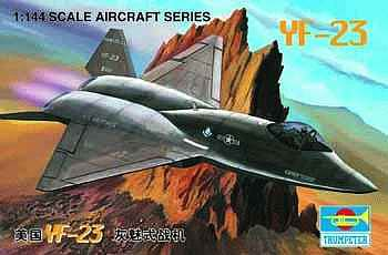 Trumpeter YF23 Fighter Aircraft -- Plastic Model Airplane Kit -- 1/144 Scale -- #1332