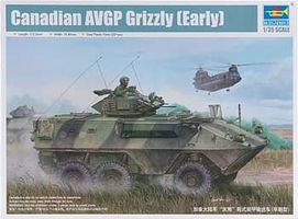 Trumpeter Canadian Grizzly 6x6 AVGP Plastic Model Military Vehicle Kit 1/35 Scale #1502