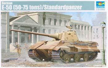 Trumpeter German E50 Panther (50-75 Ton) Tank -- Plastic Model Military Vehicle Kit -- 1/35 Scale -- #1536