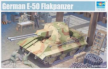 Trumpeter German E50 Flakpanzer Tank Plastic Model Military Vehicle Kit 1/35 Scale #1537