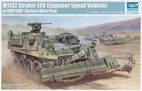 Trumpeter M1132 Stryker Engineer Squad Vehicle (ESV) Plastic Model Military Kit 1/35 Scale #1575