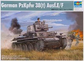 Trumpeter German PzKpfw 38(t) Ausf E/F Tank Plastic Model Military Vehicle Kit 1/35 Scale #1577
