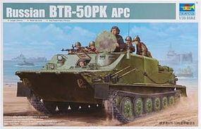 Trumpeter Russian BTR-50PK Amphibious Armored Transport Plastic Model Military Kit 1/35 Scale #1582