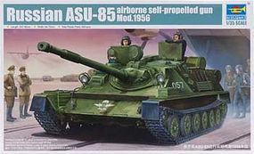 Trumpeter Russian ASU85 Airborne Self-Propelled Gun Mod 1956 Tank Plastic Model Kit 1/35 Scale #1588