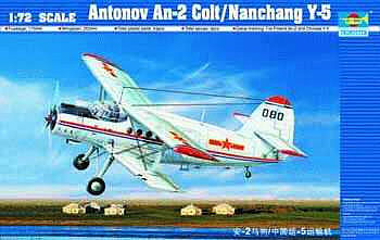 Trumpeter Antonov AN2 Colt Biplane -- Plastic Model Airplane Kit -- 1/72 Scale -- #1602