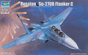 Trumpeter Sukhoi Su-27UB Flanker C Russian Fighter Plane Plastic Model Airplane Kit 1/72 Scale #1645