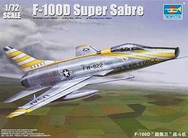 Trumpeter F100D Super Sabre Attack Fighter Aircraft Plastic Model Airplane Kit 1/72 Scale #1649