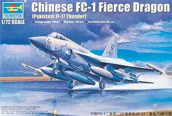 Trumpeter Chinese FC1 Fierce Dragon (Pakistani JF17 Thunder) -- Plastic Model Airplane -- 1/72 Scale -- #1657