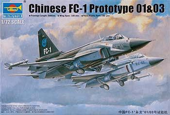 Trumpeter Chinese FC1 Prototype 01/03 Aircraft -- Plastic Model Airplane Kit -- 1/72 Scale -- #1658