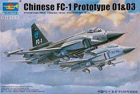 Trumpeter Chinese FC1 Prototype 01/03 Aircraft Plastic Model Airplane Kit 1/72 Scale #1658