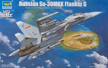 Trumpeter Sukhoi Su-30MKK Flanker G Russian Fighter -- Plastic Model Airplane Kit -- 1/72 Scale -- #1659