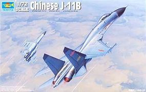 Trumpeter Chinese J11B (Flanker B+) Fighter Plane Plastic Model Airplane Kit 1/72 Scale #1662