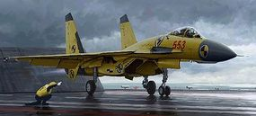 Trumpeter Chinese J-15 Fighter with Flight Deck Plastic Model Airplane Kit 1/72 Scale #1670