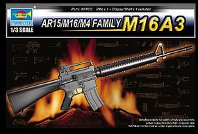 Trumpeter M16A3 Machine Gun (New Variant) Plastic Model Weapon Kit 1/3 Scale #1911