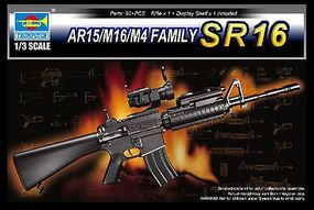 Trumpeter SR16 Machine Gun (New Variant) Plastic Model Weapon Kit 1/3 Scale #1912