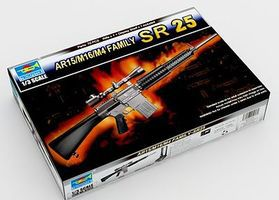 Trumpeter SR25 Machine Gun (New Variant) Plastic Model Weapon Kit 1/3 Scale #1913