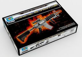 Trumpeter Mk 18 Mod 0 CQBR Rifle (New Variant) Plastic Model Weapon Kit 1/3 Scale #1914
