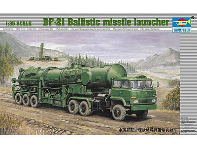 Trumpeter Chinese DF21 Ballistic Missile Launcher on Truck -- Plastic Model Military Kit -- 1/35 Scale -- #202