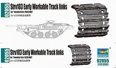 Trumpeter Strv 103 Workable Track Link Set -- Plastic Model Vehicle Assortment -- 1/35 Scale -- #2055