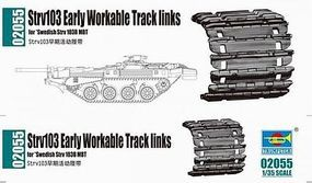 Trumpeter Strv 103 Workable Track Link Set Plastic Model Vehicle Assortment 1/35 Scale #2055
