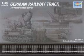 German Railway Track Set (36'' of Extra Track) Plastic Model Accessory 1/35 Scale #213