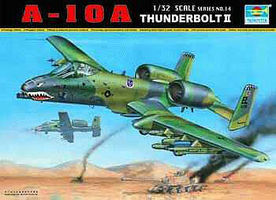 Trumpeter A10A Thunderbolt II Single-Seat Fighter Plane Plastic Model Airplane Kit 1/32 Scale #2214