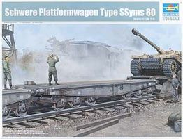 Trumpeter WWII German Army Type SSyms 80 Heavy Armor Transport Flatcar Plastic Model Kit 1/35 #221