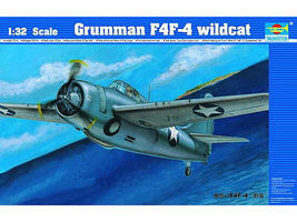 Trumpeter F4F4 Wildcat Fighter Aircraft Plastic Model Airplane Kit 1/32 Scale #2223