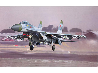 Trumpeter Sukhoi Su-27 Flanker B Aircraft -- Plastic Model Airplane Kit -- 1/32 Scale -- #2224