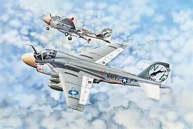 Trumpeter A-6A Intruder Aircraft -- Plastic Model Airplane Kit -- 1/32 Scale -- #2249