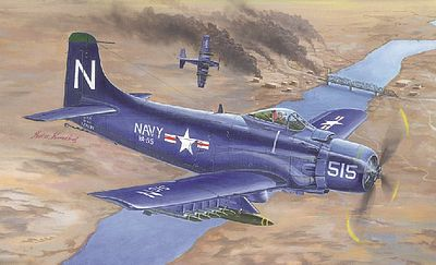Trumpeter A-1D AD-4 Skyraider Aircraft -- Plastic Model Airplane Kit -- 1/32 Scale -- #2252