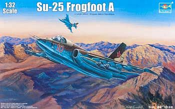 Trumpeter Sukhoi Su25 Frogfoot A Russian Fighter -- Plastic Model Airplane Kit -- 1/32 Scale -- #2276