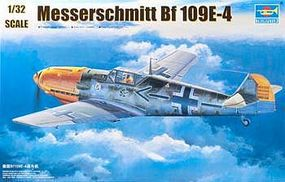 Trumpeter Messerschmitt Bf109E4 German Fighter Plastic Model Airplane Kit 1/32 Scale #2289