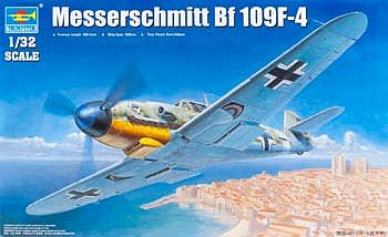 Trumpeter Messerschmitt Bf109F4 German Fighter Plastic Model Airplane Kit 1/32 Scale #2292