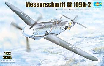 Trumpeter Messerschmitt Bf109G2 German Fighter Plastic Model Airplane Kit 1/32 Scale #2294
